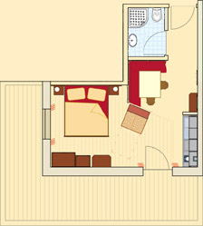Floor plan Apartment type E