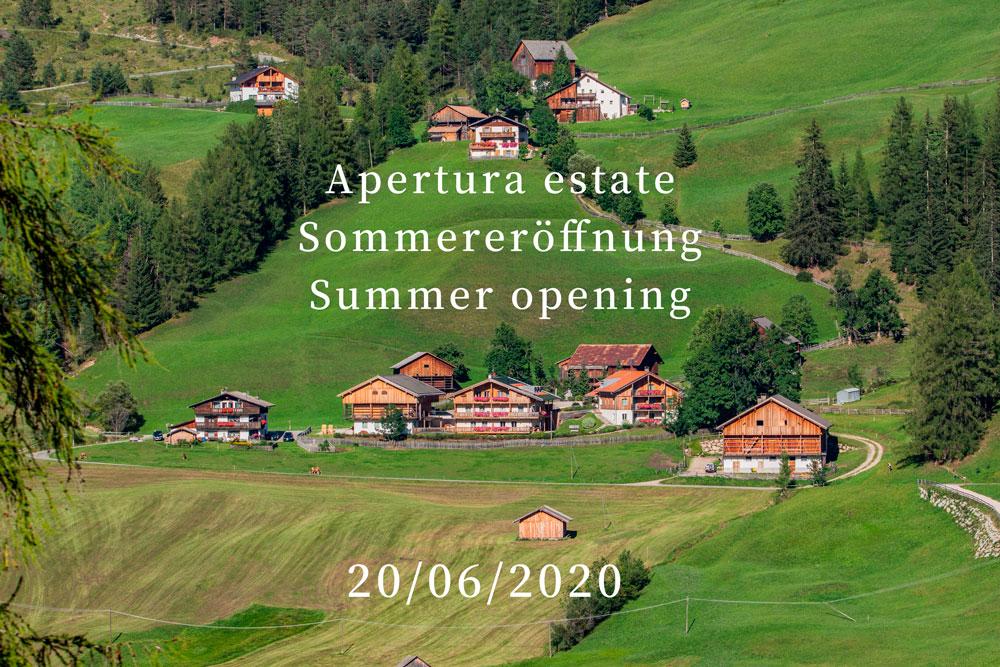 Apertura estate - Sommereröffnung - Summer opening Residence Rosarela